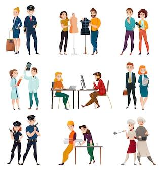 Set di persone di occupazione professionale