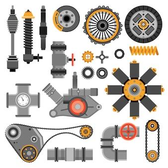 Set di pezzi meccanici