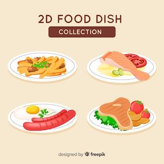 Set di piatti di cibo