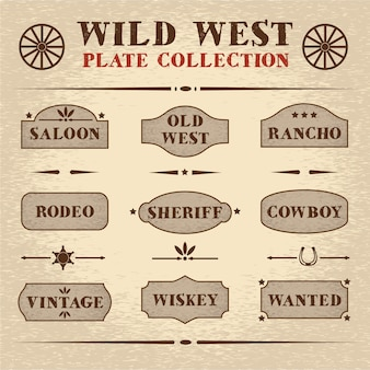 Set di piatti in legno vecchio stile