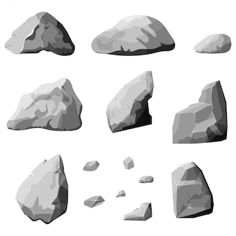 Set di pietre grigie