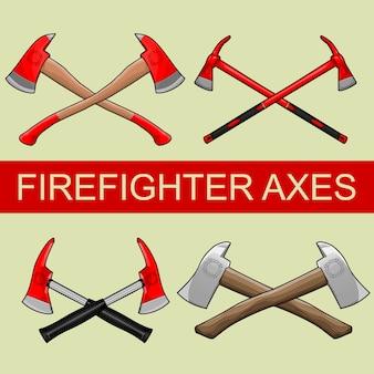 Set di pompiere asce