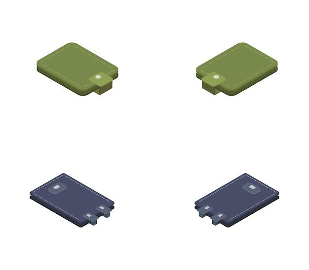 Set di portafogli isometrici