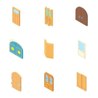 Set di porte, stile cartoon