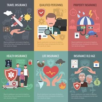 Set di poster assicurativi