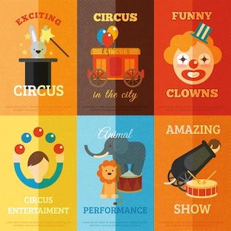 Set di poster di circo