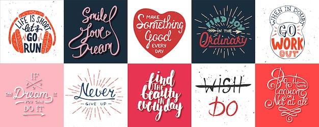 Set di poster di lettere motivazionali
