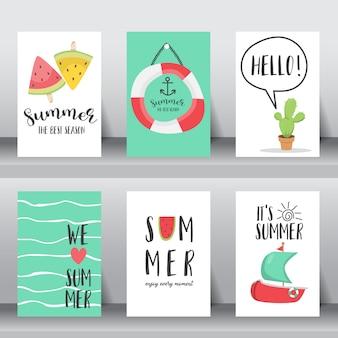 Set di poster di vacanza