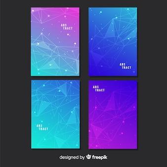 Set di poster tecnologia gradiente