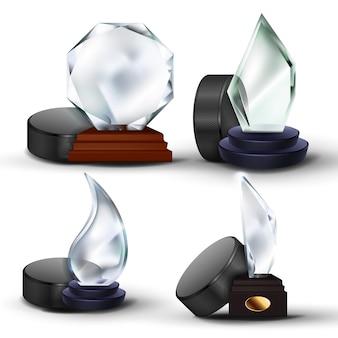 Set di premi del gioco di hockey su ghiaccio