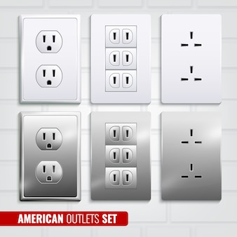 Set di prese americane