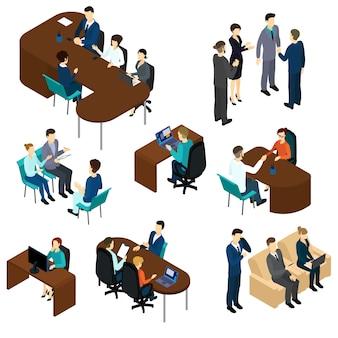 Set di processi di reclutamento isometrico