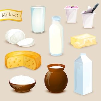 Set di prodotti a base di latte