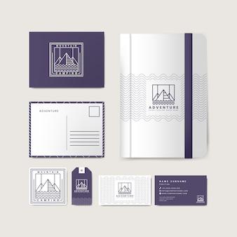 Set di prodotti aziendali con logo