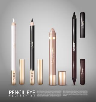 Set di prodotti cosmetici alla moda per gli occhi