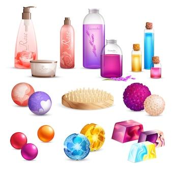 Set di prodotti di bellezza per il bagno