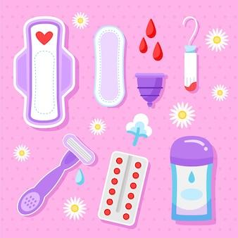 Set di prodotti per l'igiene femminile