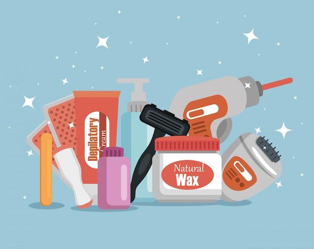 Set di prodotti per la depilazione