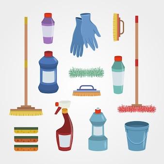 Set di prodotti per la pulizia delle superfici