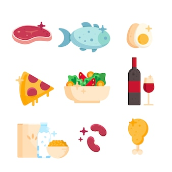 Set di prodotti sani