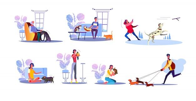 Set di proprietari di animali domestici