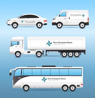 Set di pubblicità per il trasporto