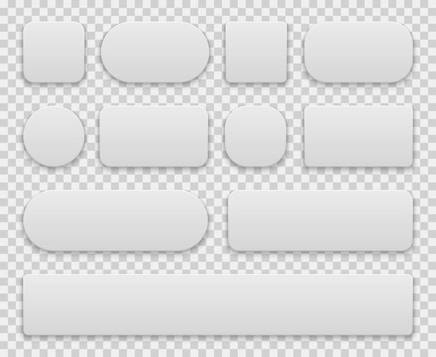 Set di pulsanti bianchi