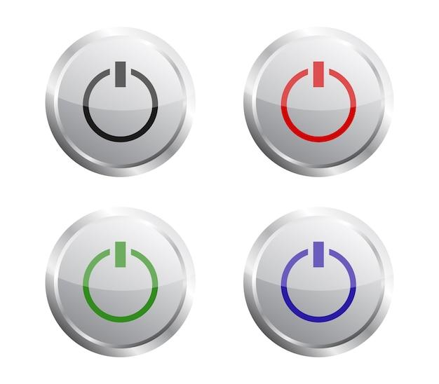 Set di pulsanti di accensione