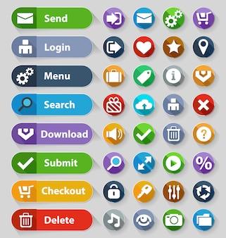 Set di pulsanti di web design