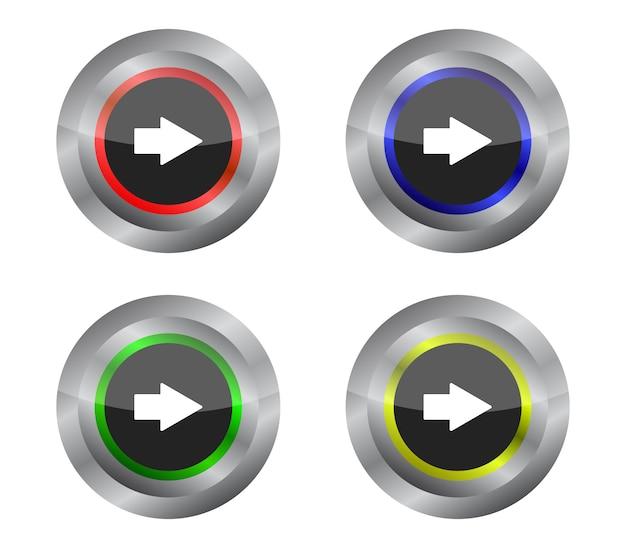 Set di pulsanti frecce