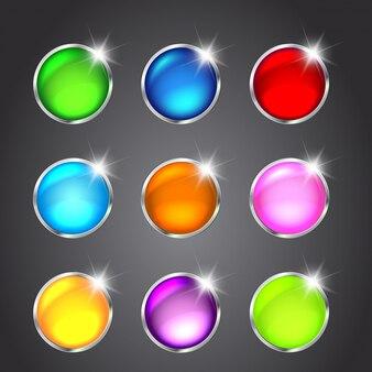 Set di pulsanti lucidi per il design