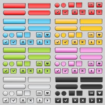 Set di pulsanti web