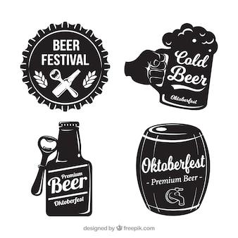 Set di quattro adesivi d'epoca vintage oktoberfest