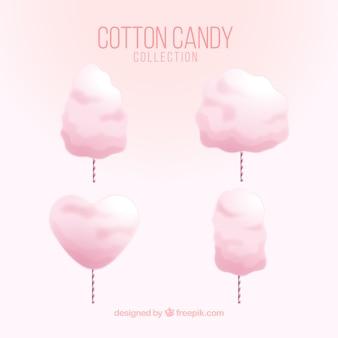 Set di quattro caramelle di cotone