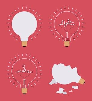 Set di quattro lampadine
