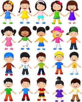 Set di raccolta di bambini felici