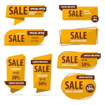 Set di raccolta di banner vendita