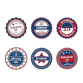 Set di raccolta di etichette di forza militare