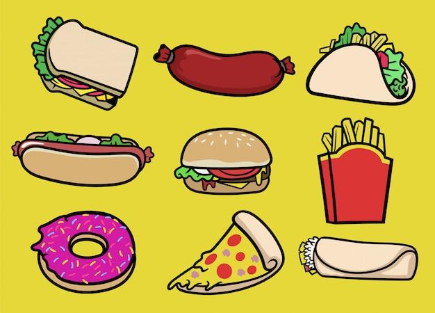 Set di raccolta fast food