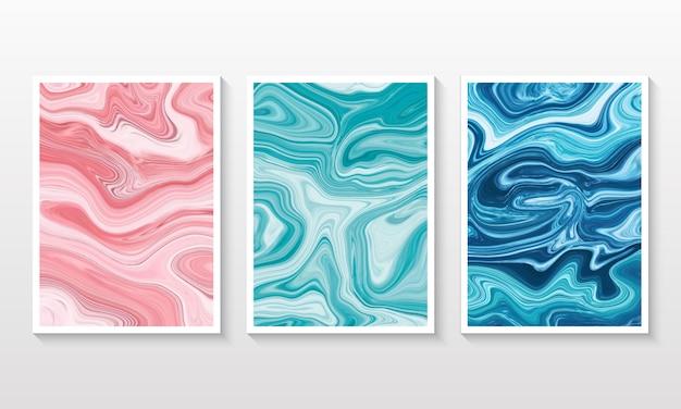 Set di raccolta sfondo marmo liquido