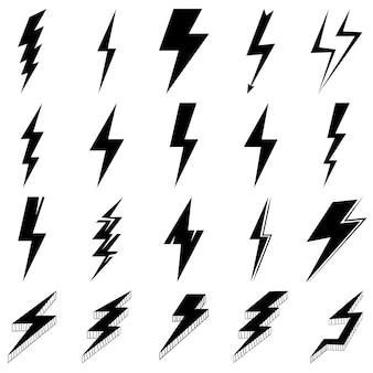 Set di raggi nero e bianco