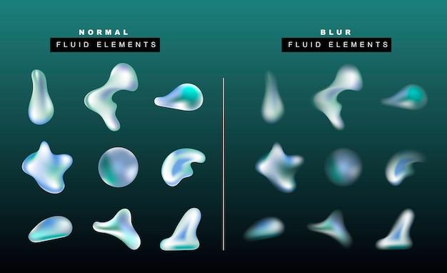 Set di realistica goccia di liquido