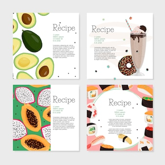Set di ricette.