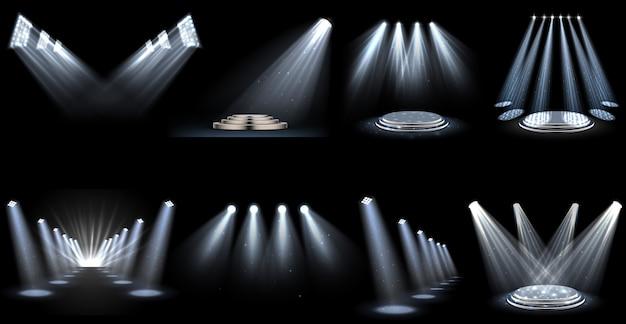 Set di riflettori effetto luce