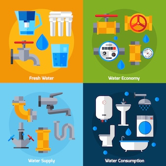 Set di rifornimento idrico