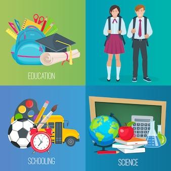 Set di ritorno a scuola.