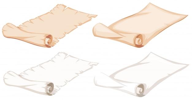 Set di rotolo di carta
