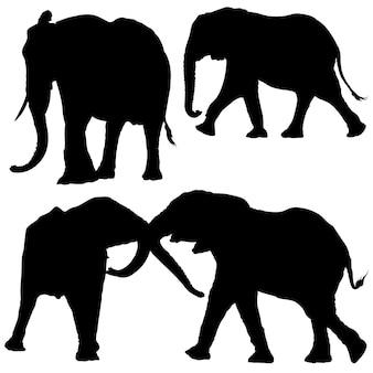 Set di sagoma di elefante