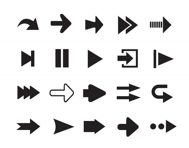 Set di sagome di frecce