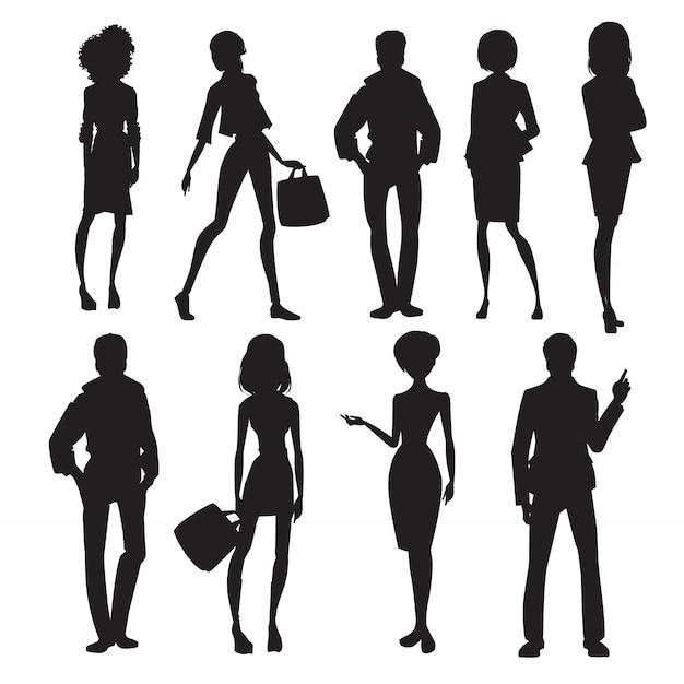 Set di sagome di persone originali